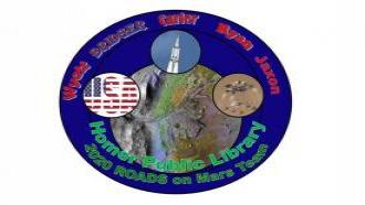 The Homer Public Library's ROADS on Mars team patch