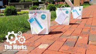 The Work@Home Mini-Kits brick sidewalk
